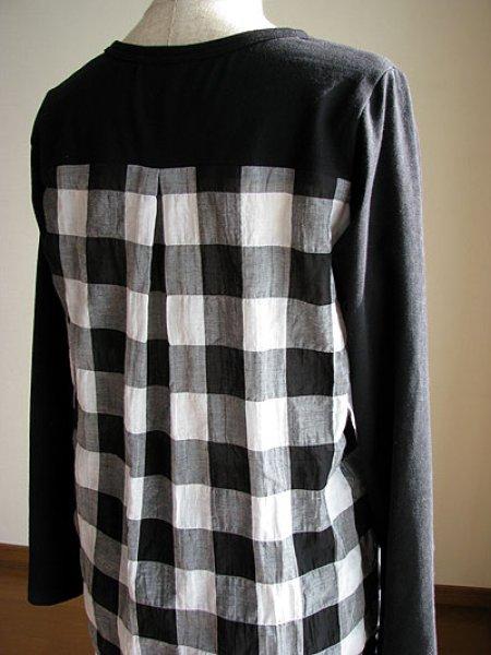 画像1: 後布帛Tシャツ (1)