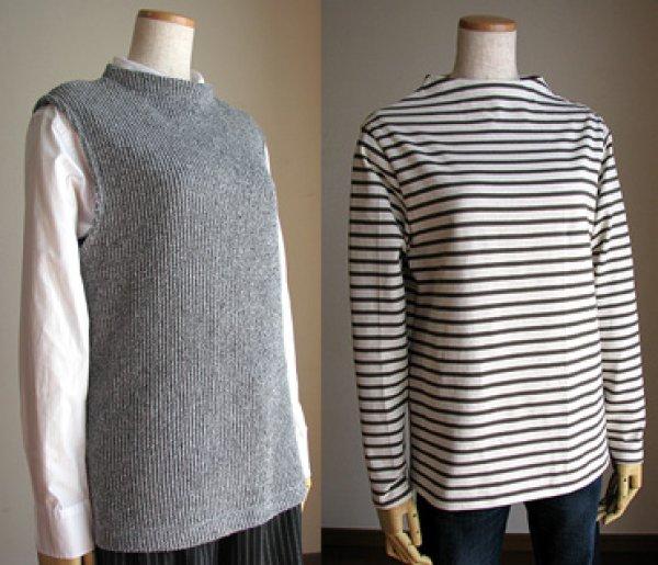 画像1: ボトルネックTシャツ&ベスト (1)
