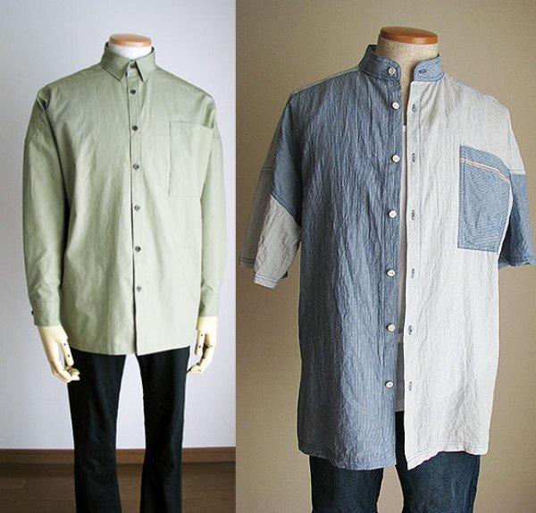 画像1: メンズボックスシャツ (1)