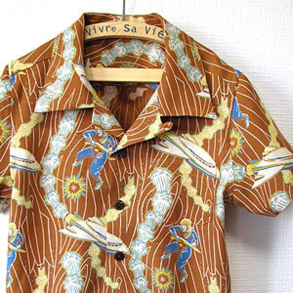 画像1: キッズアロハシャツ (1)